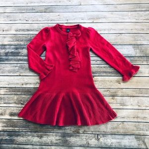 Girls gap red knit dress! 5 years